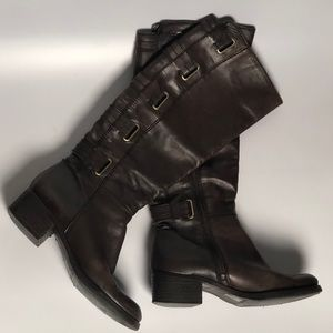 Arturo Chiang Brown Leather knee High Boots